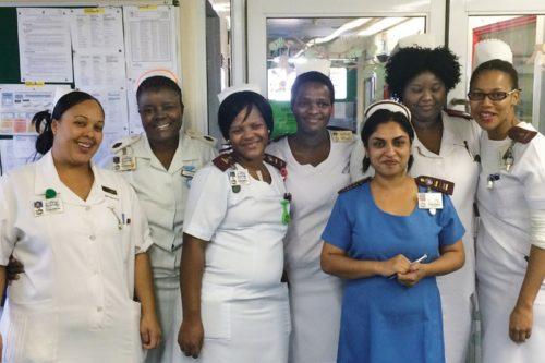 Ward A, Greys's Hospital and Sr Sarika Maharaj, Sr Faith Msomi and Sr Kavitha Dookie